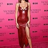 Bella Hadid's Red Dress at Victoria's Secret Party 2017