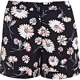 Miss Selfridge daisy print shorts (£28)