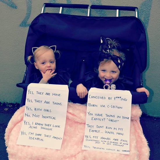 Mom of Twins Posts Hilarious Sign Answering Questions