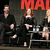 Jon Hamm, Christina Hendricks, and January Jones chatted about the final season of Mad Men at the TCAs in LA on Saturday.
