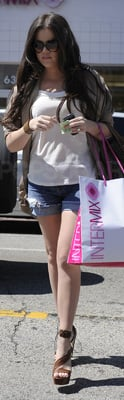 Khloe Kardashian Shops at Intermix