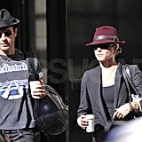 Justin and Jennifer wore fedoras.