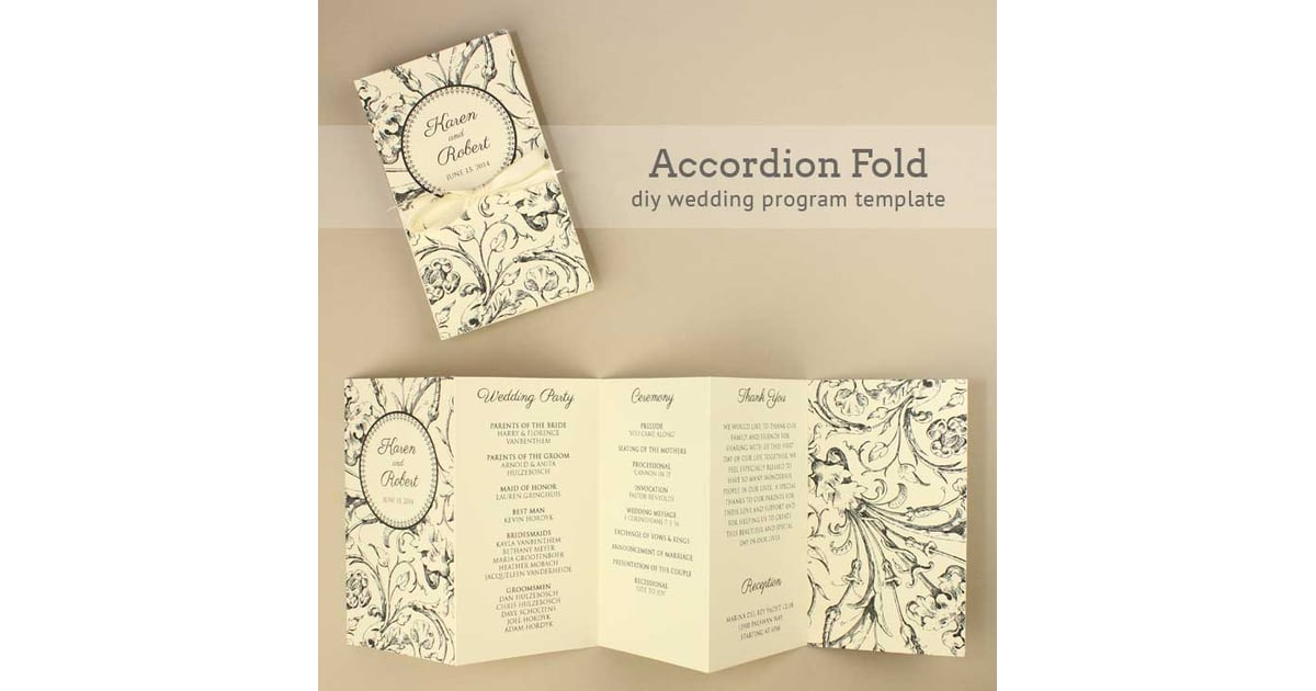 accordion wedding program