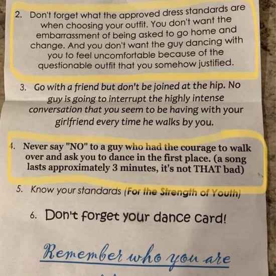 "This Church's Dance ""Rules"" Told Girls Not to Say No to Boys"
