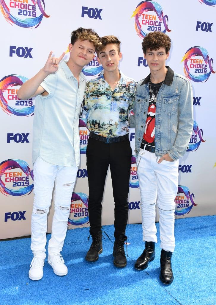 Jacob Sartorius, Johnny Orlando, and Hayden Summerall at the Teen Choice Awards 2019