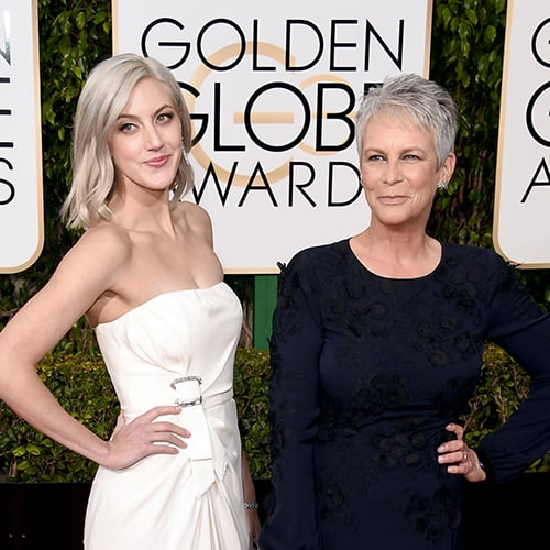 Jamie Lee Curtis's Hair at Golden Globes 2016