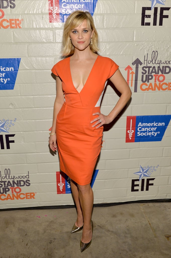 Reese Witherspoon in Roland Mouret at 2014 Hollywood Stands Up to Cancer Event
