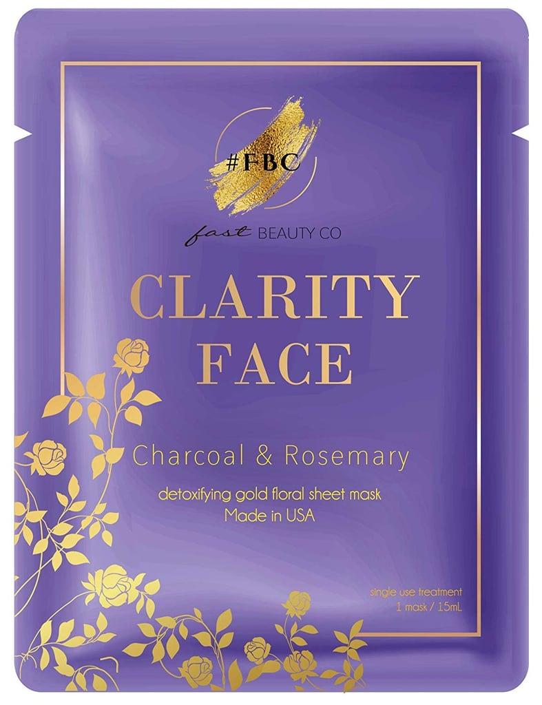 Fast Beauty Co. Detoxifying Gold Floral Sheet Mask