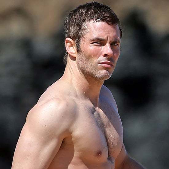 James Marsden Shirtless on the Beach in Hawaii