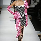 Kaia's Wearing a Pink and Black Moschino Look on the Runway