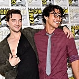 Pictured: Richard Harmon and Bob Morley.