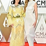 Kacey Musgraves and Gigi Hadid at the 2019 CMA Awards