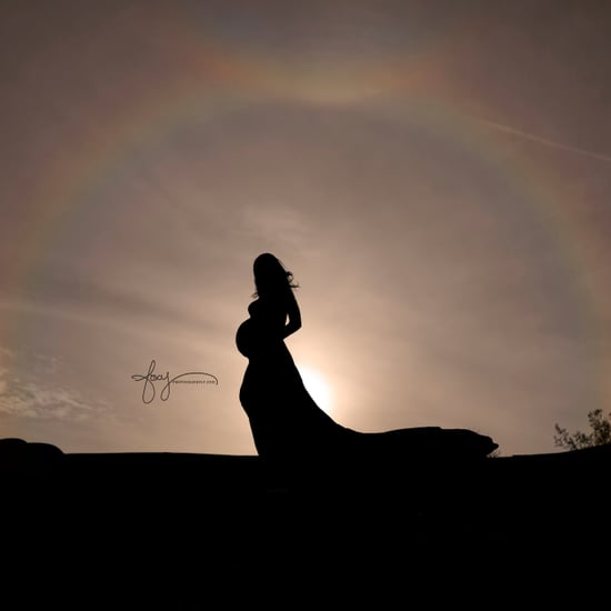 Rainbow Maternity Shoot With Triple Rainbow