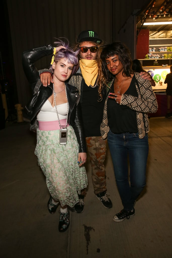Kelly Osbourne hung out with friends.