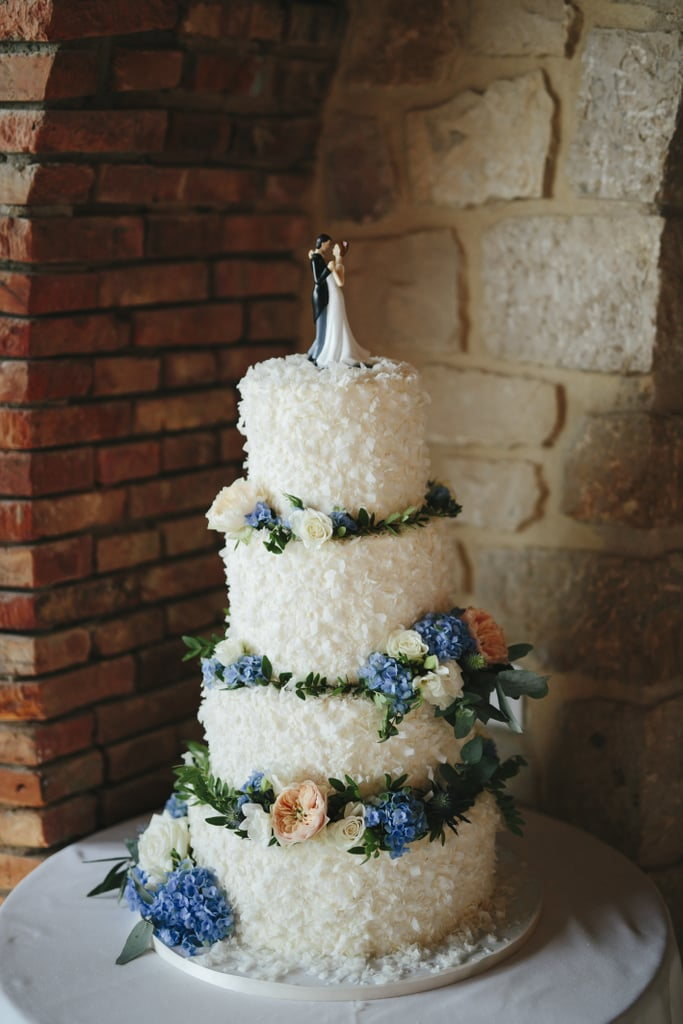 Blue and White Flower Cake