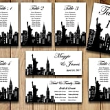 New York Wedding Seating Chart