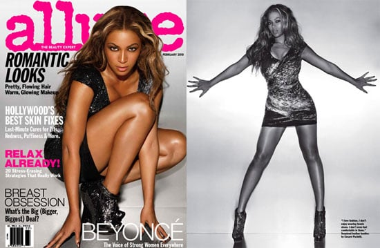 Photos of Beyonce from the February 2010 Issue of Allure