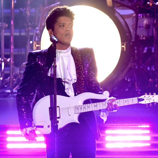 Bruno Mars Prince Tribute Video at the 2017 Grammys