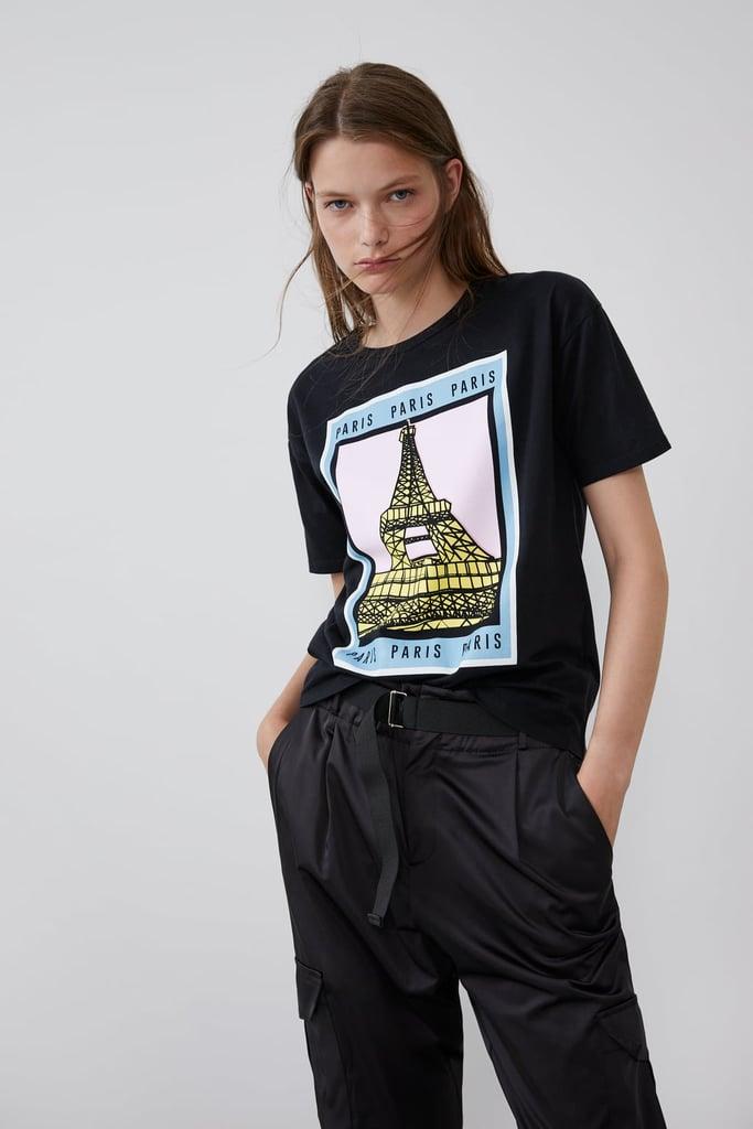 Zara Front Print T-Shirt