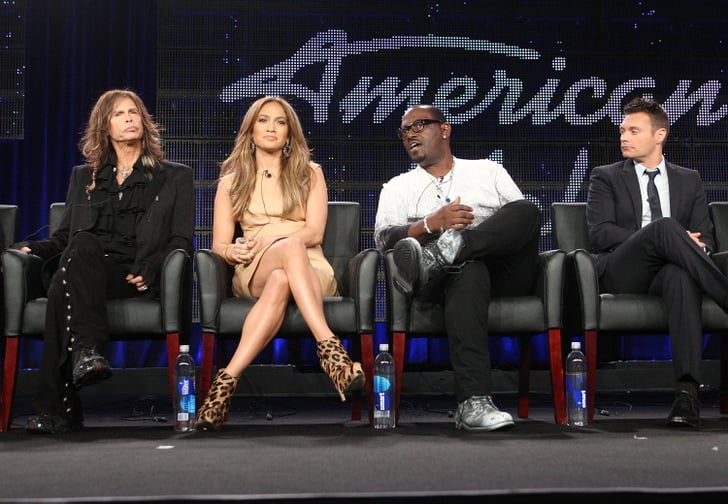 Pictures of Jennifer Lopez, Randy Jackson, Steven Tyler, and Ryan Seacrest at the American Idol TCA Panel