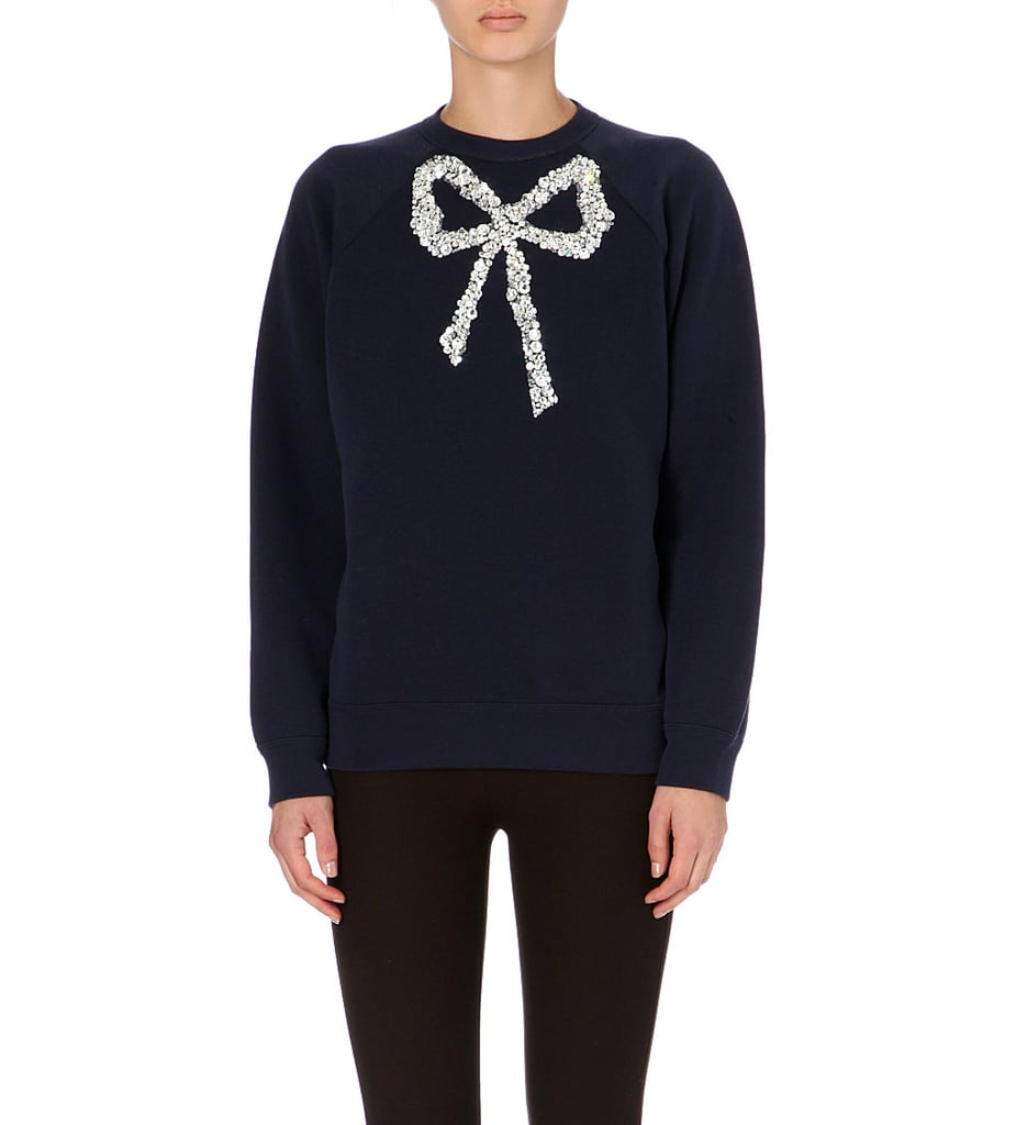 Marc Jacobs Jewelled-Bow Jumper
