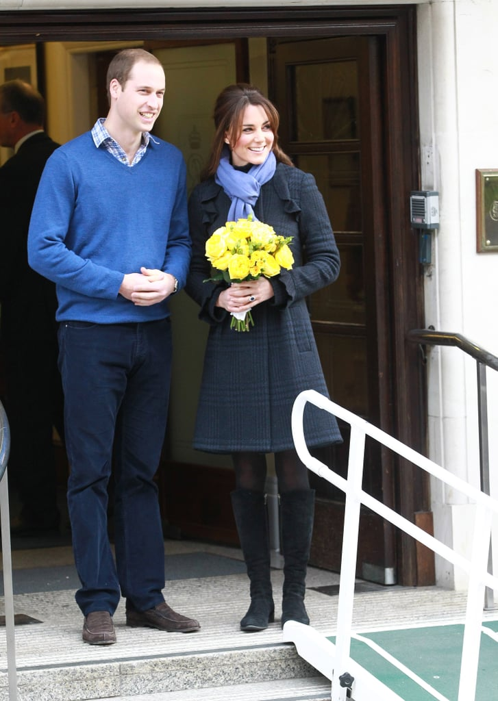 Prince William and Kate Middleton left the King Edward VII hospital where Kate had been treated for acute morning sickness shortly after announcing their pregnancy news, in December.