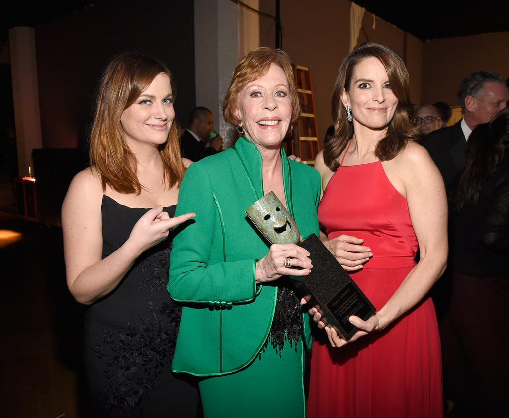 Tina and Amy presented fellow funny lady Carol Burnett with an award at this year's Screen Actors Guild Awards.