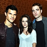 Robert Pattinson Brings His Half-Shaved Hair to Comic-Con With Taylor Lautner and Kristen Stewart