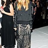 Rachel Zoe went bohemian in tie-dye for the DVF runway show.