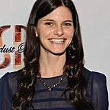 Lindsey Kraft wore a sheer navy blue top to the premiere of Life Happens in Century City.