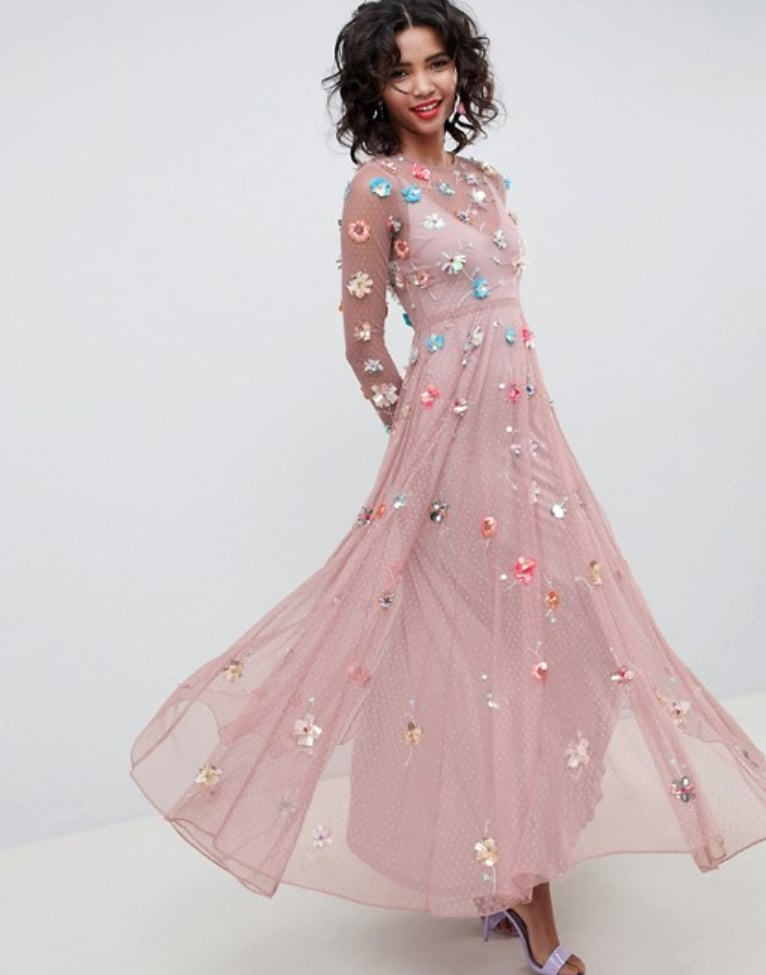 Asos Embellished Maxi Dress Princess Victoria S Sheer Wedding Guest Dress Is So Darn Beautiful It Hurts Our Heart Popsugar Fashion Photo 10,Long Indian Dresses For Weddings