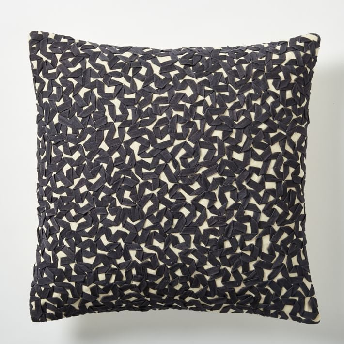 Twill Ribbon Maze Pillow Cover ($34)