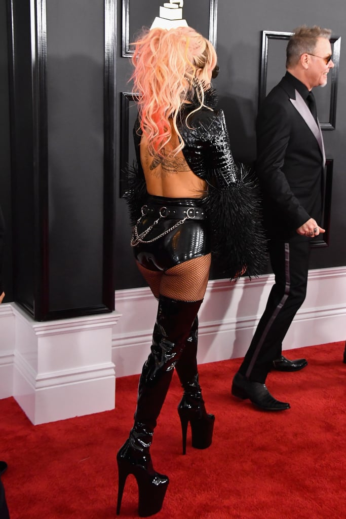 Lady Gaga S Outfit At The 2017 Grammys Popsugar Fashion
