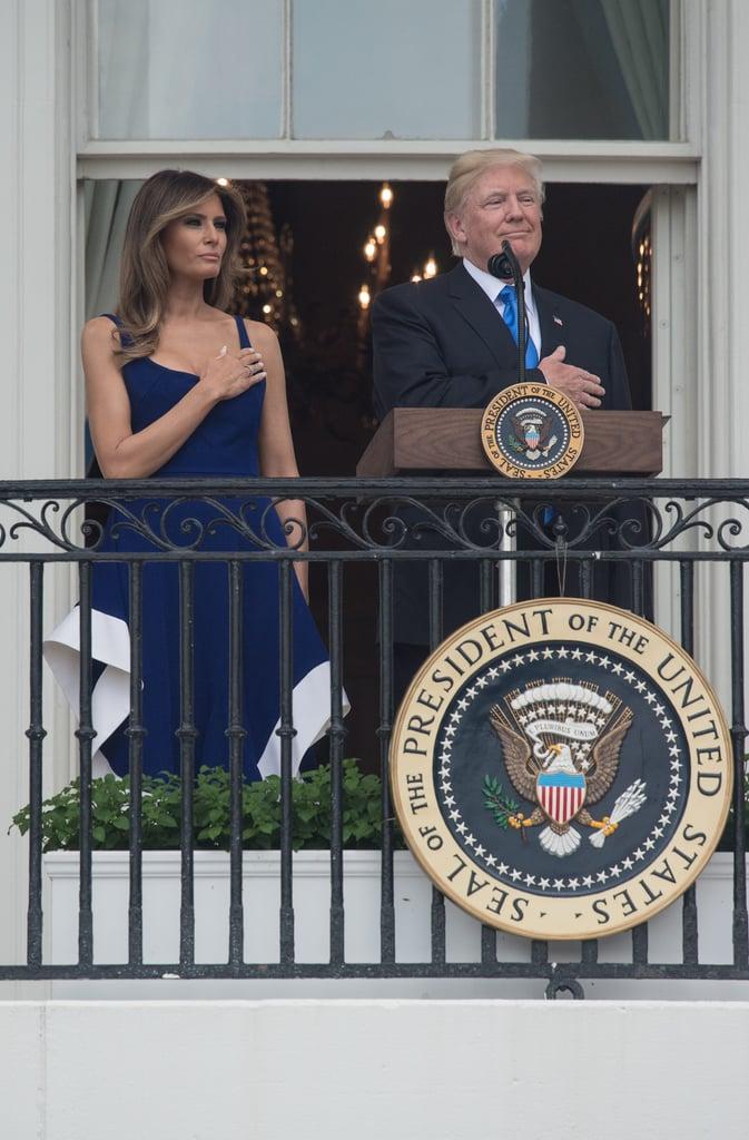 Melania Trump Esteban Cortazar Dress July 4 2017