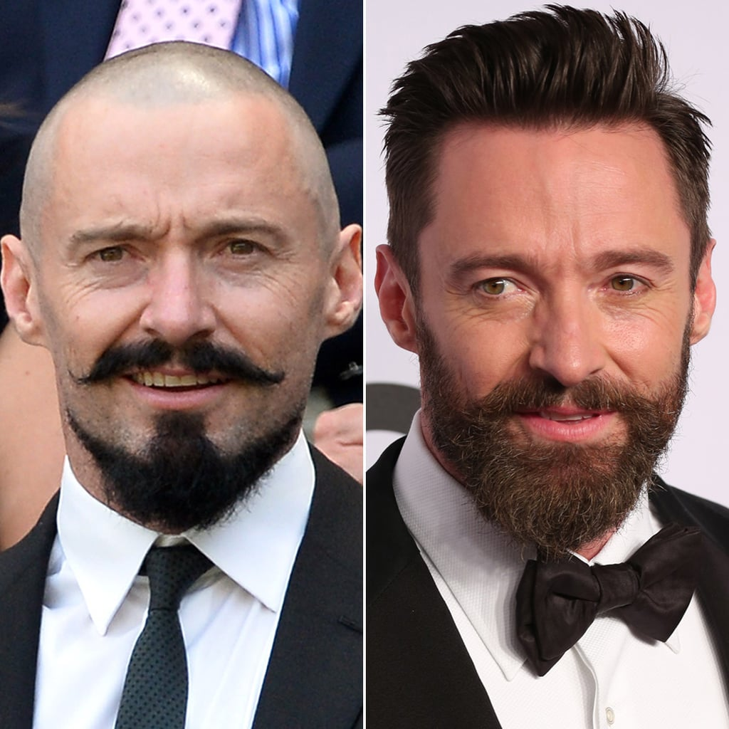Hugh Jackman Haircut: Male Celebrities With Hair Vs. Shaved Heads