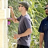 Justin Timberlake was in Fasano, Italy, wearing his new wedding ring.
