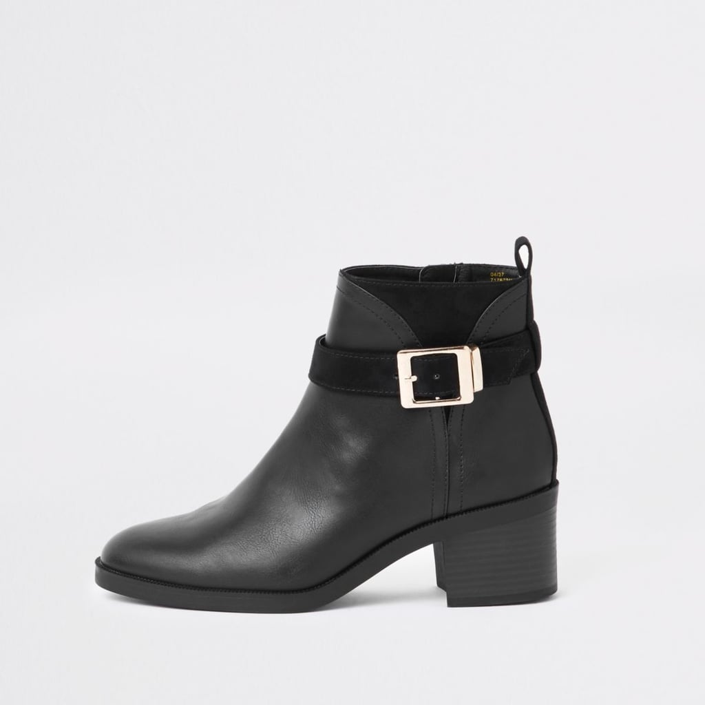 River Island Wide Fit Buckle Boot