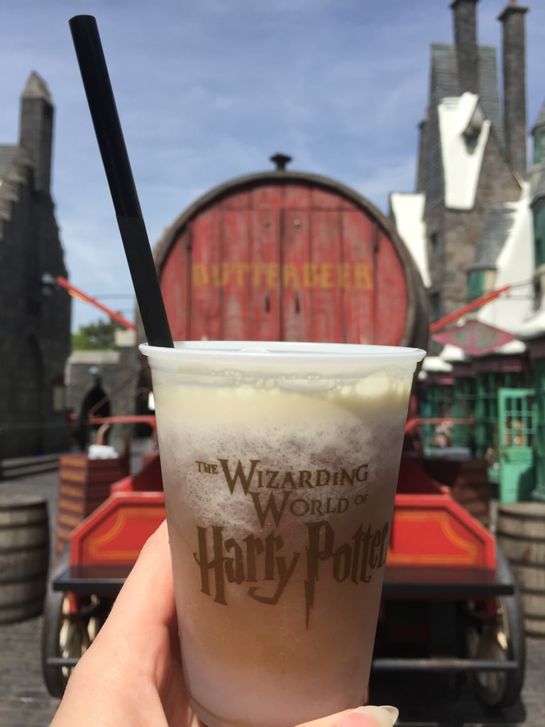 You can get Butterbeer at carts around the park, or in the restaurants.