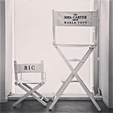 Beyoncé took to her Instagram feed to let fans know that Blue Ivy would be accompanying her on her Summer 2013 Mrs. Carter Show world tour. Source: Instagram user baddiebey