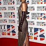 Rihanna wore gloves to the Brit Awards.