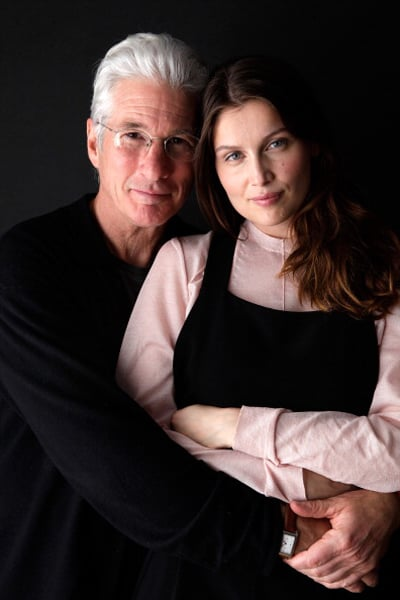 richard gere and laetitia casta cuddled up in promotion of