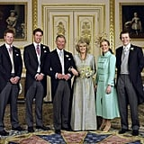 The couple was joined on their big day by their children from previous marriages; Princes William and Harry from Charles's relationship with Princess Diana, and Laura and Tom Parker Bowles, Camilla's daughter and son from her marriage to Andrew Parker Bowles.
