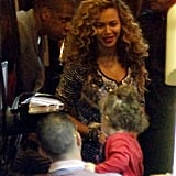 Beyonce Knowles had a birthday dinner with Jay-Z.