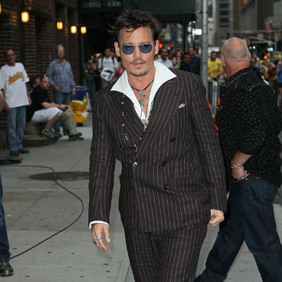 Johnny Depp Outside The Late Show With David Letterman