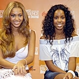 A fresh-faced Bey and Kelly posed at the 2005 Essence Music Festival in New Orleans.