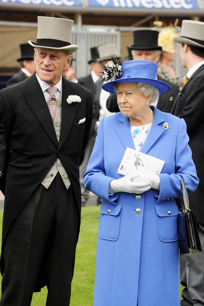 Queen Elizabeth and her husband, Prince Philip, attended the Diamond Jubilee Derby.