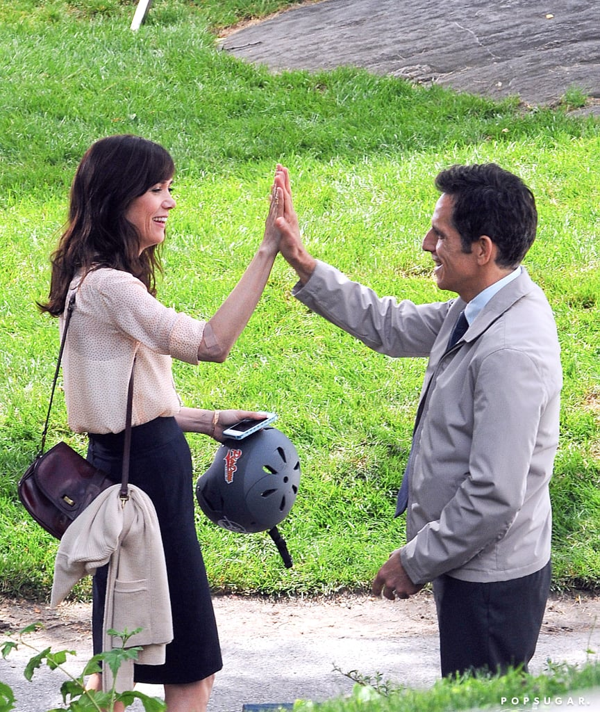 In June 2012, Kristen Wiig and Ben Stiller shared a slap while filming in NYC.