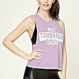"""Forever 21 Active """"Not Tomorrow Today"""" Tank"""