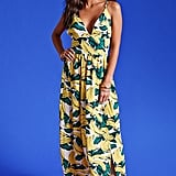 Forever 21 Nightwalker Banana Maxi Dress