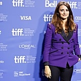 Penelope Cruz wore a purple blazer to TIFF.